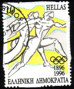 Stamp from Greece Olympic Games List, Two Of A Kind, Envelope Art, You Are The World, Stamp Collecting, Postage Stamps, Olympics, Atlanta, Illustration