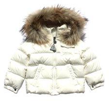 Moncler Baby Ivory 'K2' Down Fur Trim Coat