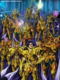 Saint Seiya - Gold saints by diabolumberto on DeviantArt