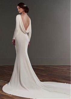 e84a3a8cdbd Magbridal Glamorous Spandex Bateau Neckline Mermaid Wedding Dresses