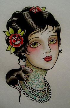 Traditional Tattoo Con mi mar y sol :)