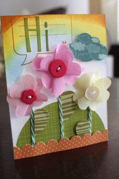 """Hi"" card, by Alice Carmen."
