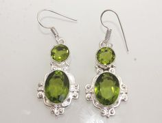 Awesome Nature Green Genuine Quartz Exclusive Earrings. Starting at $1