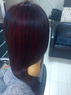 black & red