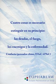 La sabiduría de Confuncio presente en Eupharlaw
