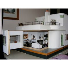An Art Deco Dolls House made and furnished by Artisans by Jazz - Dolls' Houses Past & Present found on Polyvore