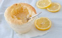 Epicure's Saucy Lemon Sponge Pudding: This is the English-style pudding, not the American style. Light sponge on top with a delicious custardy sauce underneath. Epicure Recipes, Healthy Recipes, Just Desserts, Dessert Recipes, Lemon Sponge, Smoothie Drinks, Smoothies, Eat Dessert First, Meatless Monday