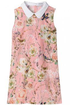 CURATED BOTANICAL BANK botanical print dress
