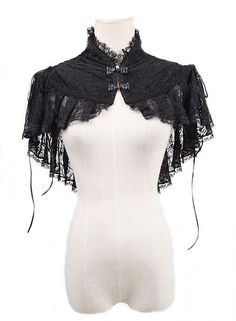 beautiful high neck lace capelet <3