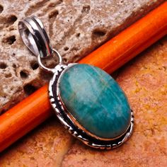 #'Amazonite Pendant' is going up for auction at  9pm Sun, Aug 5 with a starting bid of $5.