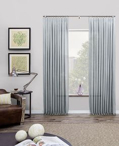 Inverted Pleat Drapes, Inverted Pleat Curtains | The Shade Store