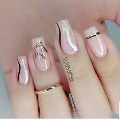 Heart Nail Designs, Acrylic Nail Designs, Nail Art Designs, Acrylic Nails, Flamingo Nails, Nails Only, Manicure E Pedicure, Heart Nails, Nail Art Hacks