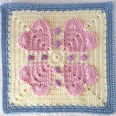 Crochet Granny Square Patterns Never Ending Love Square - Free Pattern More - Never Ending Love SquareThis crochet pattern / tutorial is available for free. Full Post: Never Ending Love Square Crochet Motifs, Crochet Quilt, Granny Square Crochet Pattern, Crochet Blocks, Crochet Afghans, Crochet Squares, Crochet Granny, Crochet Yarn, Crochet Stitches