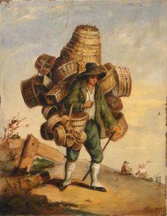 1a Joachim Beukelaer (Flemish painter c 1534-c 1574) The Vegetable Seller.       18th century Detail of an image from Traité général des ...