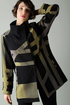 item: 6110 krinkle silk with silk satin lining Katherine Jacket basque sizes: xs-xl