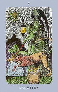 Swedish witch Tarot ( Jolanda Tarot) The Hermit