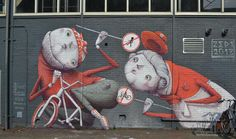 Walk or cycle? I love this Street Fighter piece by Zed1. It was supported by Look for Art Gallery, Henxs paint shop and streetart.nl.