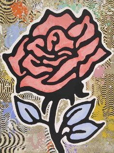 DONALD BAECHLER - RED ROSE - WENG CONTEMPORARY http://www.widewalls.ch/artwork/donald-baechler/red-rose/ #print