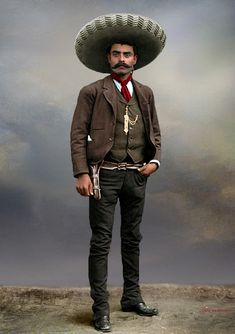 me-la-pelaron: klimbims: Emiliano Zapata by klimbims Such an attractive face..