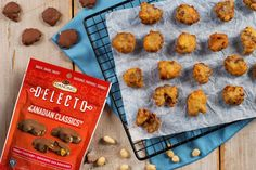 A fun recipe that the whole family will enjoy! Made with Ganong Canadian Classics Peanut Clusters. Peanut Clusters, 1 Egg, Corn Starch, Fritters, Sweet Recipes, Baking Soda, Good Food, Favorite Recipes, Treats