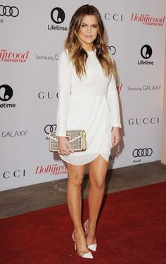 Khloe Kardashian in an A.L.C dress. We think it's one of her best looks ever!