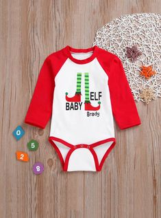 To find out about the Toddler Girls Christmas Letter Print Jumpsuit at SHEIN, part of our latest Toddler Girl Jumpsuits ready to shop online today! Jumpsuits For Girls, Kids Girls, Toddler Girls, Lany, Printed Jumpsuit, Matching Family Outfits, Long Sleeve Bodysuit, Baby Outfits Newborn, Cotton Style