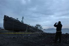 Oil Tanker washed up on Staten Island shore    NYT: Aging weather satellites noticed as Sandy nears - Technology & science - The New York Times | NBC News