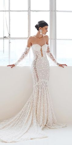 Mermaid Wedding Dresses mermaid wedding dresses with long sleeves sweetheart neckline galia lahav - Mermaid wedding dresses are quite popular among bride. This kind of bridal dress has the function to draw attention to the bust, waist and hips. Disney Wedding Dresses, Sexy Wedding Dresses, Elegant Wedding Dress, Perfect Wedding Dress, Bridal Dresses, Wedding Gowns, Party Wedding, Wedding Cards, Fall Wedding