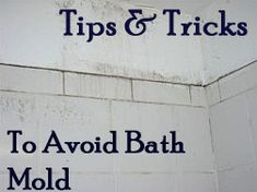 Helpful tips to remember: Clean the bathroom with eco-friendly mold-preventing cleaners like Concrobium or Moldzyme. Painting the walls with semi-gloss paint makes them more resistant to mold growth. Household Cleaning Tips, Cleaning Recipes, House Cleaning Tips, Spring Cleaning, Cleaning Hacks, Mold In Bathroom, Bathroom Cleaning, Bathroom Remodeling, Bathrooms