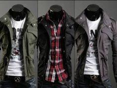 Amazon.com: Military Jacket Men's Jacket LEON safari style: Clothing & Accessories
