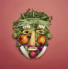 """One Teen& Quest. One teens quest to live a """"raw lifestyle"""" in a family of meat-eaters. Giuseppe Arcimboldo, Watermelon Art, Watermelon Carving, Veggie Art, Veggie Food, Toddler Finger Foods, Fruit List, Paper Collage Art, Online Art Classes"""