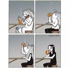 A manhã pede um café.