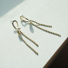 [블레싱] 리본 진주롱 드롭 귀걸이 Diy Earrings, Bag Accessories, Piercing, Handmade Jewelry, Jewelry Design, Bling, Jewels, Stone, Fall