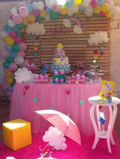 Princess Birthday Party Decorations, 1st Birthday Party For Girls, Baby Birthday Cakes, Kids Party Decorations, Unicorn Birthday Parties, Diy Birthday, Balloon Decorations, Baby Shower Decorations, Unicorn Party