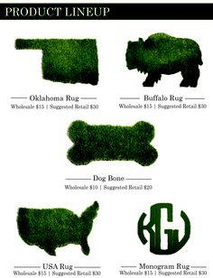 Always Greener synthetic grass rugs, http://alwaysgreenerokc.com/