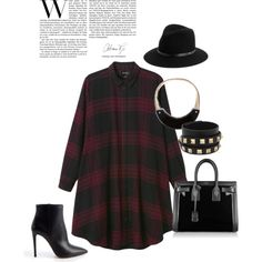 A fashion look from October 2014 featuring Monki dresses, Prada ankle booties and Yves Saint Laurent tote bags. Browse and shop related looks.