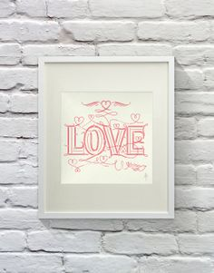 LOVE  Lettering by LVSC on Etsy, $18.00