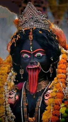 Jay Maa Kali, Kali Mata, Maa Kali Images, Durga Images, Kali Hindu, Hindu Art, Durga Kali, Kali Goddess, Mother Goddess
