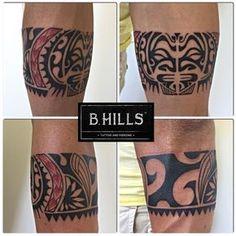#maoritattoo #maoriarm #arm #mask #redtattoo #sharkteeth #geometric #tattoo #ink #art #black #red #bhillstattoo #LadyOktopus #tattooartist