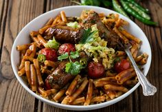 Spicy Boerewors and Cabbage Pasta