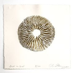 Dust to dust by Chris drury -mushroom print