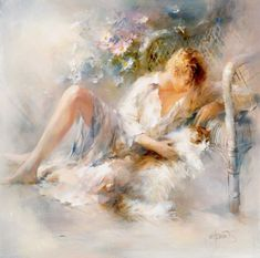 Willem Haenraets|Watercolor. Framing Canvas Art, Art Academy, Impressionist Paintings, Impressionism, Fine Art, Beautiful Paintings, Cat Art, Art Pictures, Painting & Drawing