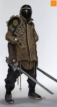 Futuristic Concept Art Character Design Science Fiction 51 New Ideas Arte Ninja, Arte Robot, Mode Cyberpunk, Cyberpunk Fashion, Character Concept, Character Art, Concept Art, Steampunk, Medieval Combat