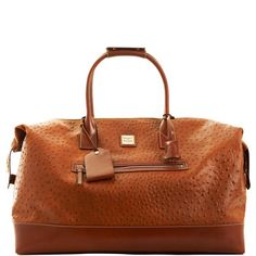 Dooney and Burke Ostrich Leather Medium Duffle $495, perfect for travel