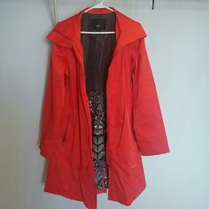Mossimo Red Trench Coat Size Medium Red trench coat is used but in very good conditions! Only worn one time!:)  Supposed to come with a fabric belt but I lost it :/ other than that coat is good  Color Red Mossimo Supply Co. Jackets & Coats Trench Coats