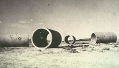 Sun Tunnels, Nancy Holt; Great Basin, Northwest Utah desert, Utah