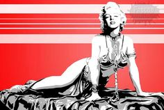 Star Wars | Marilyn Monroe as Princess Leia, Pop Art.