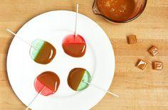 Homemade Caramel Apple Lollipops