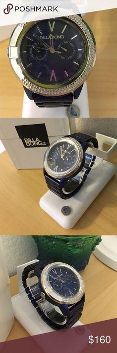 Billabong Blue Sapphire Watch New in box Beautiful color blue & silver face Billabong Accessories Watches