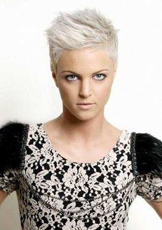 White Grey Pixie Hairstyle Ideas